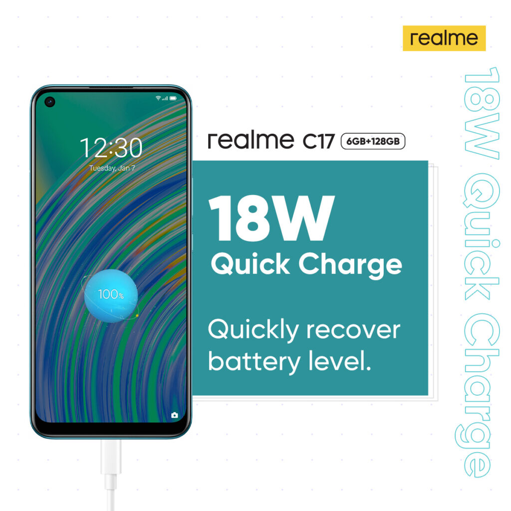 realme C17 18W quick charge